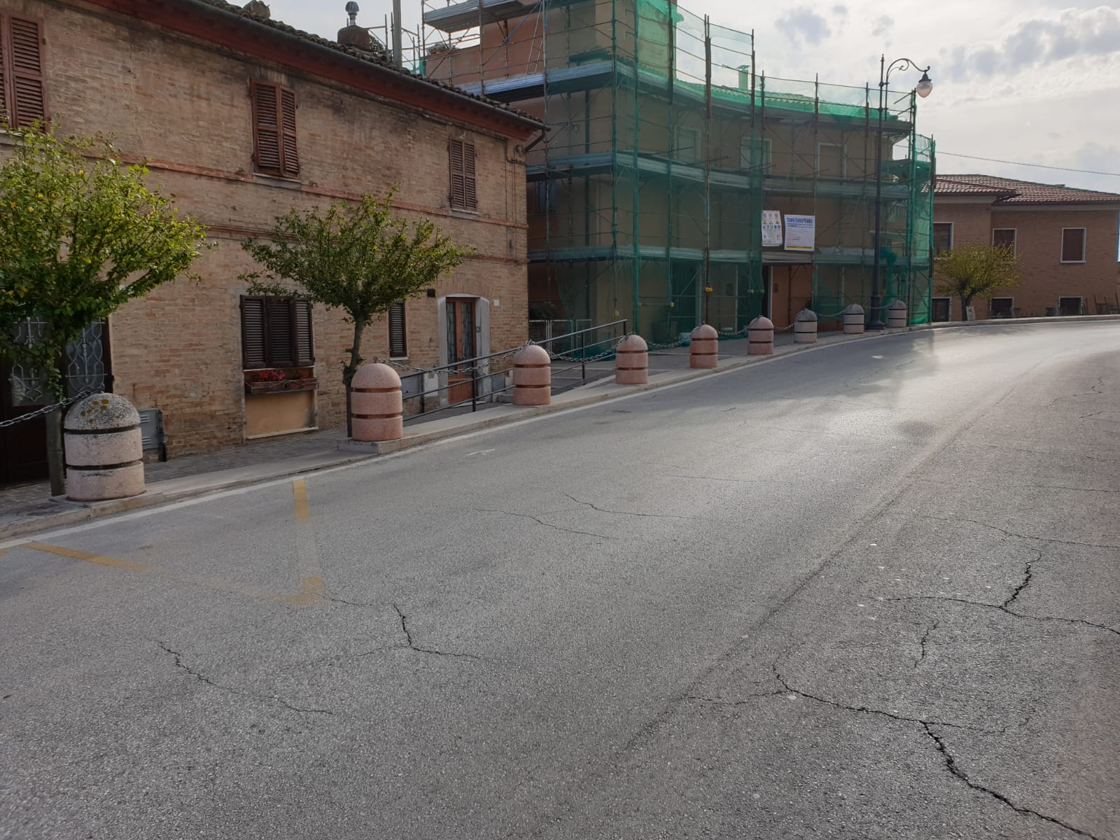 Ripristino arredo urbano post incidente Osimo (Ancona) - dopo 2