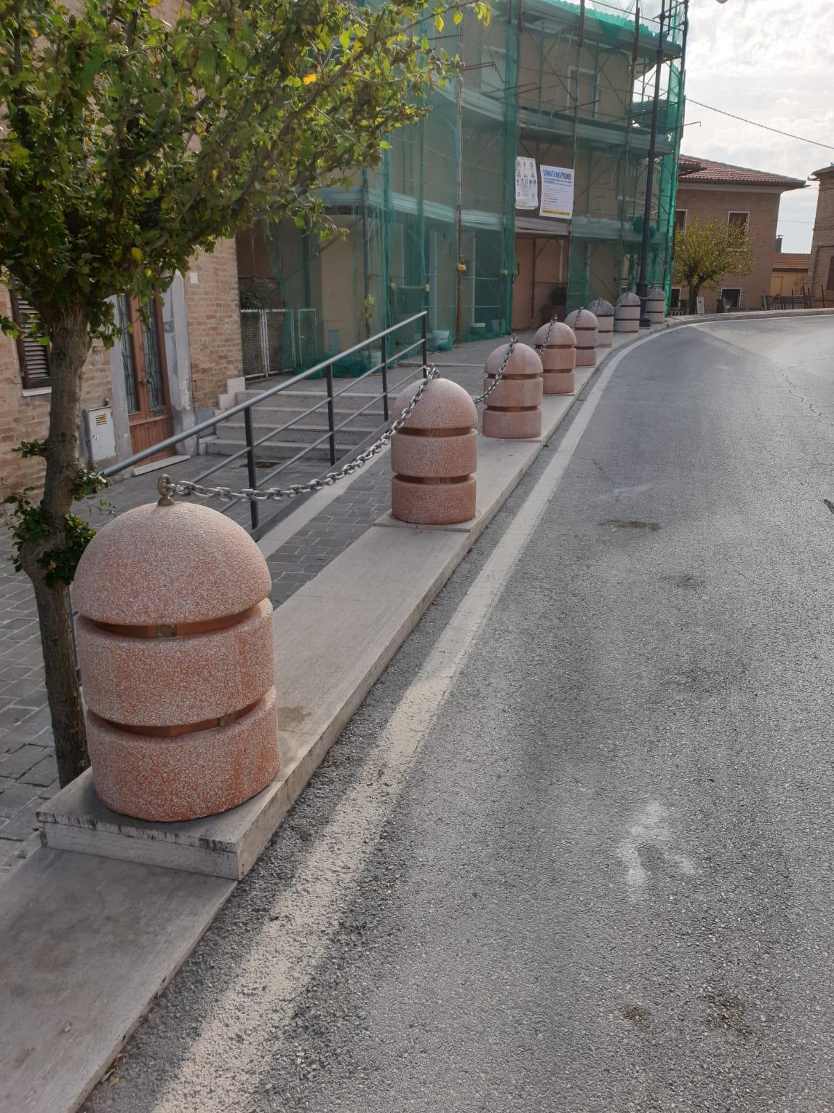 Ripristino arredo urbano post incidente Osimo (Ancona) - dopo