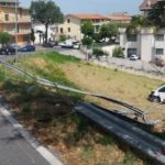 Ripristino strada post incidente Montegranaro (Fermo) - prima