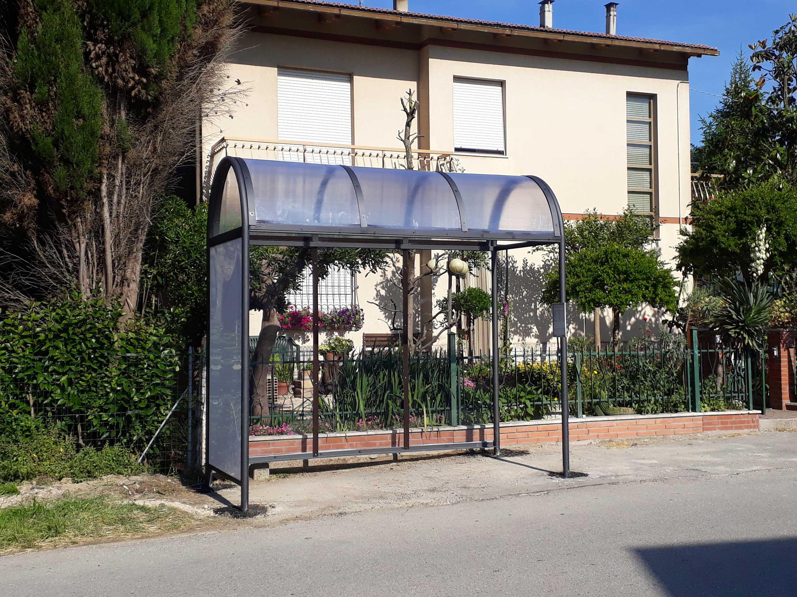 Ripristino arredo urbano post incidente Montelupone (Macerata) - dopo