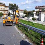 Ripristino stradale post incidente Montegranaro (Fermo)