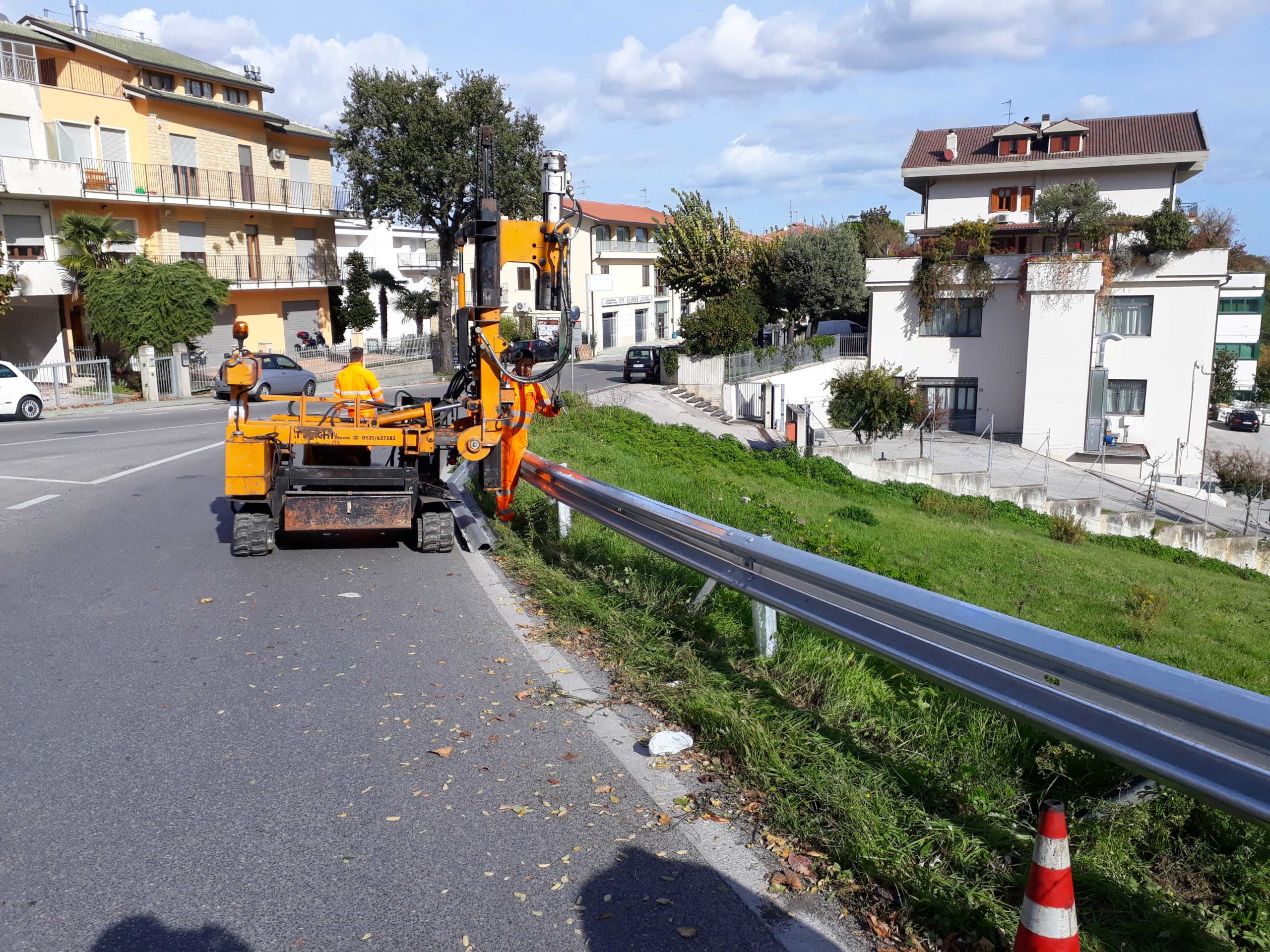Ripristino stradale post incidente Montegranaro (Fermo)