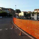 Ripristino strada post incidente Montegranaro (Fermo) - messa in sicurezza