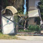 Ripristino arredo urbano post incidente Montelupone (Macerata) - prima