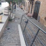 Ripristino arredo urbano post incidente Osimo (Ancona) - prima